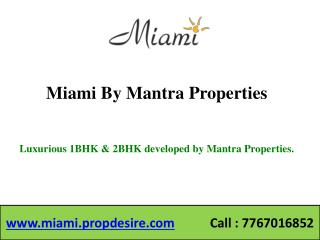 Miami Flats in Sinhagad Road, Pune - 1, 2 BHK