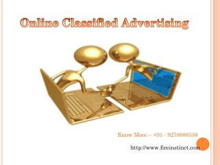 Online Classified Advertising @8527271018