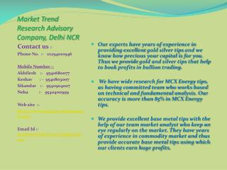 Market Trend Research Advisory Company Delhi NCR