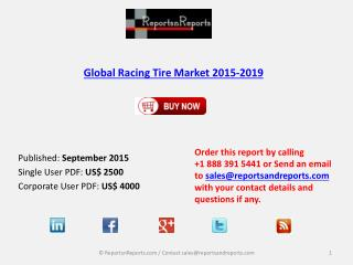 Global Racing Tire Market 2015-2019: Market Analysis and Overview