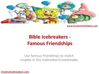 Bible Icebreakers - Famous Friendships