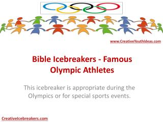 Bible Icebreakers - Famous Olympic Athletes
