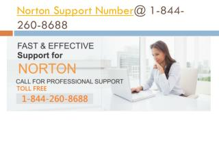 Norton Tech Support Number @ 1-844-260-8688