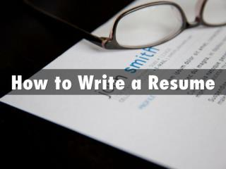 How to Write a Resume: A Killer Resume and Cover Letter That Gets More Job Interviews!