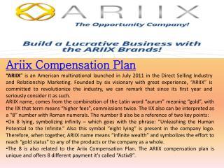 Ariix comp plan