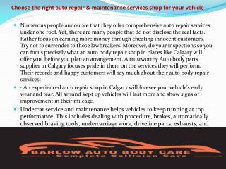 Calgary Auto Body Shop
