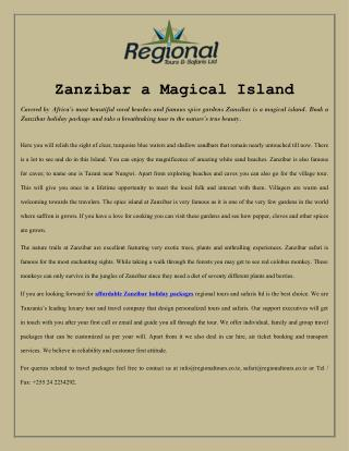 Zanzibar a Magical Island