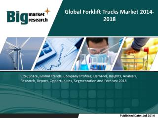Global Forklift Truck market will grow at a CAGR of 6.98 percent over the period 2013-2018