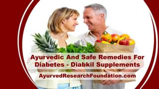 Ayurvedic And Safe Remedies For Diabetes - Diabkil Supplements