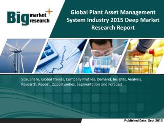 Global Plant Asset Management System Industry|Size|Share|Trends|Forecast
