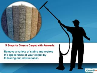 5 Steps to Clean Your Carpet with Ammonia