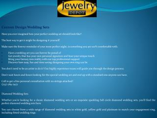 Custom Wedding Sets Houston | Jewelry Store houston
