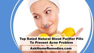 Top Rated Natural Blood Purifier Pills To Prevent Acne Problem