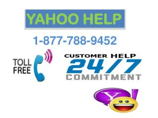 Yahoo Help Toll Free Number Dial 1-877-788-9452