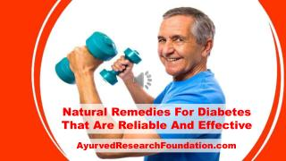Natural Remedies For Diabetes That Are Reliable And Effective