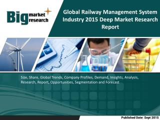 Global Railway Management System Industry- Size, Share, Trends, Forecast, Outlook