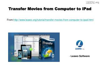 Transfer Movies from Computer to iPad