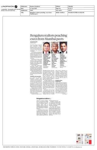 Ozone Group Business Standard 27 April 2015 Ozone Group