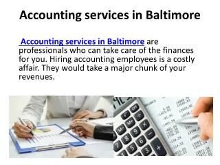 Best Accounting services in Baltimore