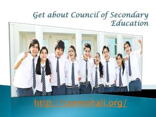 Get about Council of Secondary Education