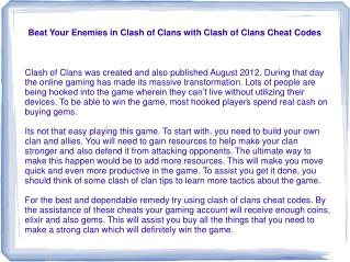 Beat Your Enemies in Clash of Clans with Clash of Clans Cheat Codes