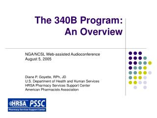The 340B Program: An Overview