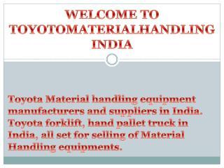 Toyota Material Handling India - Forklift Manufacturer India - Toyota Forklift