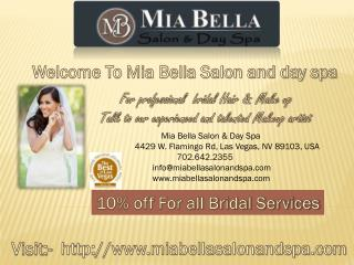 Bridal Makeup Las Vegas | Mia Bella Salon and Day Spa