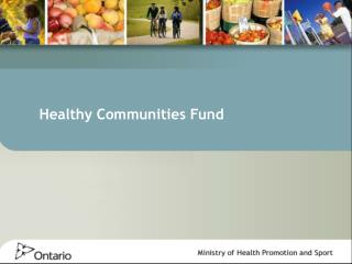 Healthy Communities Fund