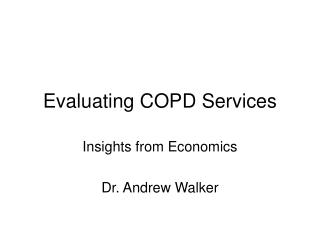 Evaluating COPD Services