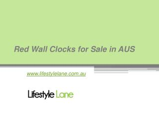 Red Wall Clocks for Sale in AUS - www.lifestylelane.com.au