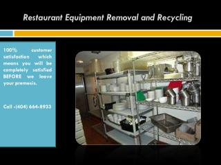 Restaurant Equipment Removal and Recycling
