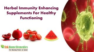 Herbal Immunity Enhancing Supplements Pills For Healthy Body Functioning