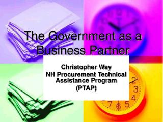 The Government as a Business Partner
