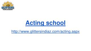 Film acting course | Glittersindiaz
