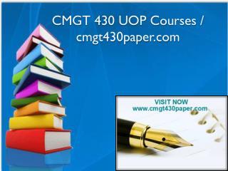 CMGT 430 UOP Courses / cmgt430paper.com