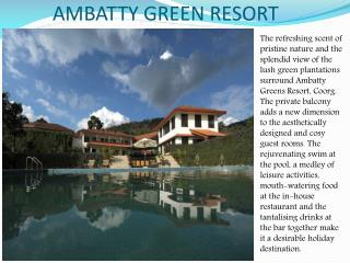 Ambatty Green Resort