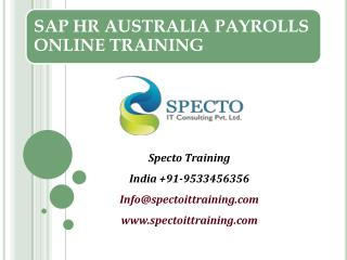 live on sap hr australia payrolls training in india