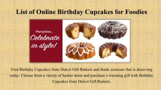 List of Online Birthday Cupcakes for Foodies