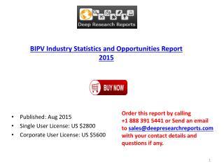 2015-2020 Global BIPV  Market Research Analysis