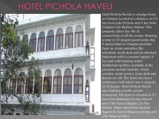 Hotel Pichola Haveli