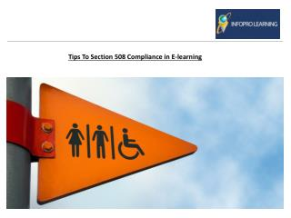 Tips To Section 508 Compliance in Elearning