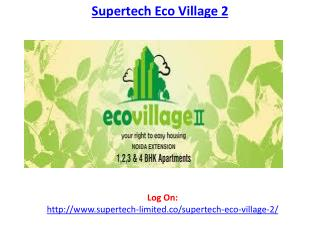 Superetech Eco Village 2 Sector 16 Greater Noida West