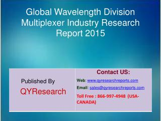 Global Wavelength Division Multiplexer Market 2015 Industry Shares, Research, Analysis, Applications, Development, Growt