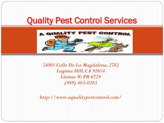 Best Pest Control Services Company & Operators in Laguna Hills, CA