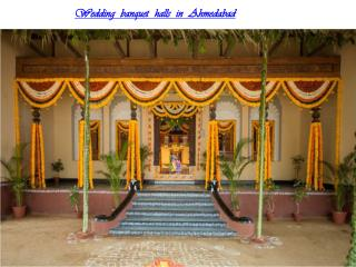 Wedding banquet halls in Ahmedabad