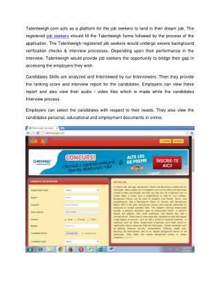 Talent Assessment - Job Interview Online @ Talentweigh.com