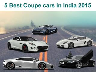 Check Out The Best Coupe Cars in India 2015
