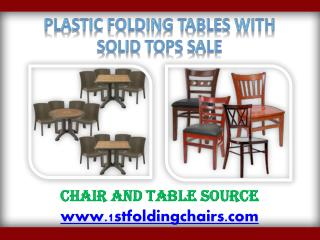 Plastic Folding Tables With Solid Tops Sale