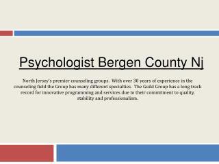Psychologist Bergen County Nj